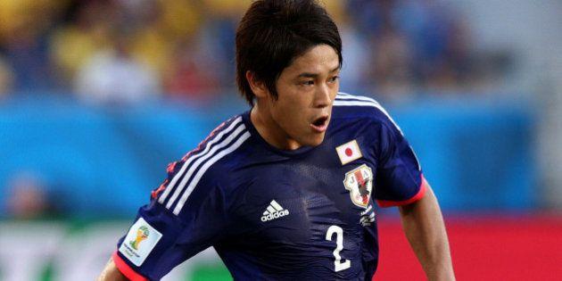 CUIABA, BRAZIL - JUNE 24: Atsuto Uchida of Japan controls the ball during the 2014 FIFA World Cup Brazil...