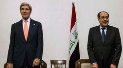 イラク強力支援、ケリー米国務長官がマリキ首相に表明