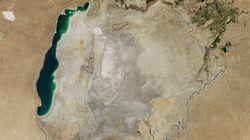 アラル海が今にも干上がりそう NASAの衛星写真でわかる「20世紀最大の環境破壊」