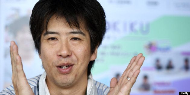 Kazuki Morishita, chief executive officer of GungHo Online Entertainment Inc., speaks during an interview...