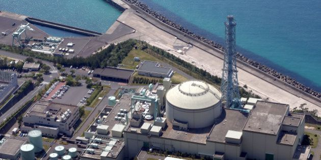 TSURUGA, JAPAN - MAY 15: (CHINA OUT, SOUTH KOREA OUT) In this aerial image, the Monju prototype fast-breeder...