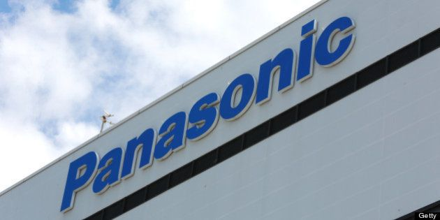 The Panasonic Corp. logo is displayed atop the company's plant in Kobe City, Hyogo Prefecture, Japan,...
