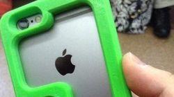 指が届かない人用「iPhone