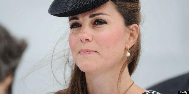 SOUTHAMPTON, ENGLAND - JUNE 13: Catherine, Duchess of Cambridge attends the Princess Cruises ship naming...
