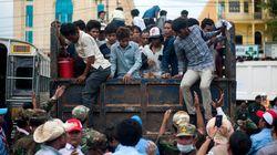 タイのカンボジア人労働者が大量に帰国