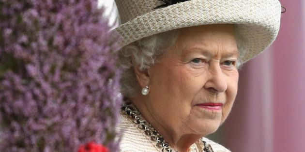 BRAEMAR, SCOTLAND - SEPTEMBER 06: Queen Elizabeth II during the Braemar Highland Games on September 6,...