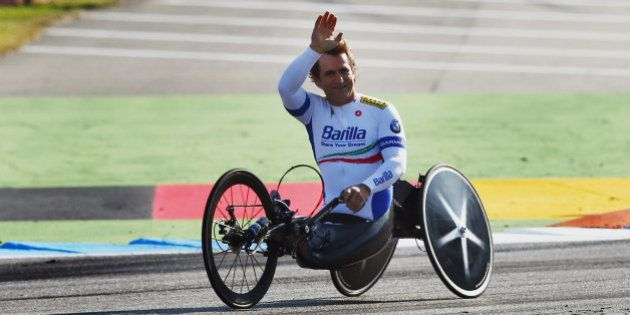 HOCKENHEIM, GERMANY - OCTOBER 21: Former race driver and Paralympic Games gold medal winner Alessandro...