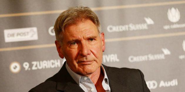 ZURICH, SWITZERLAND - OCTOBER 04: Actor Harrison Ford attends the Golden Eye For Lifetime Achievement...