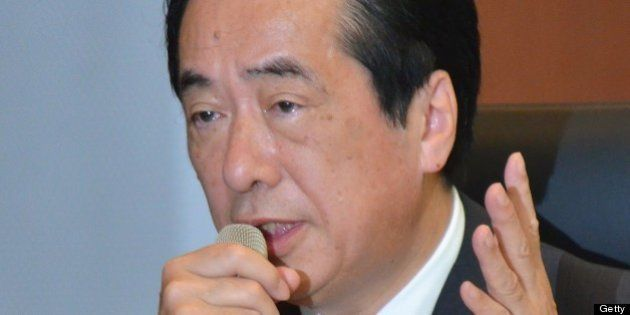 JAPAN, TOKYO - MAY 28: Former Japan's prime minister Naoto Kan speaks at the Fukushima Nuclear Accident...