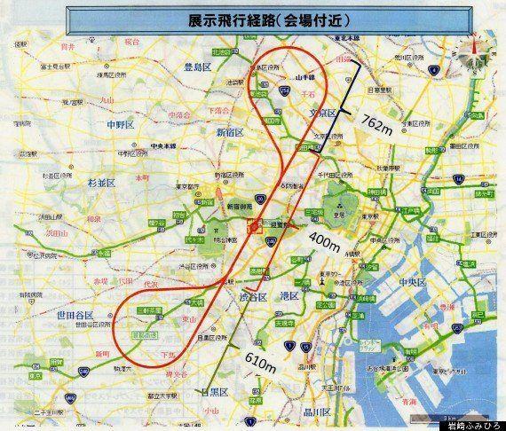 ブルーインパルスが国立競技場に 東京上空を飛行 5月31日夕方【飛行ルート・画像・動画】
