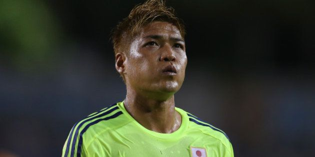 TAMPA, FL - JUNE 02: Yoshito Okubo of Japan looks on during the International Friendly Match between...