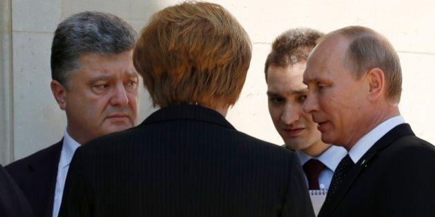 プーチン大統領、ウクライナ大統領と会談