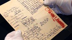 ジョン・レノンの原稿や挿絵89点、計3億円で落札