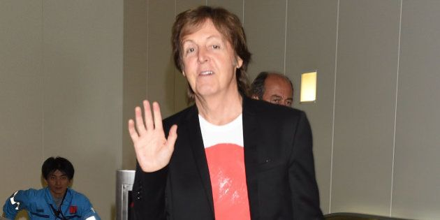 TOKYO, JAPAN - MAY 15: Paul McCartney is seen upon arrival at Haneda Airport on May 15, 2014 in Tokyo,...