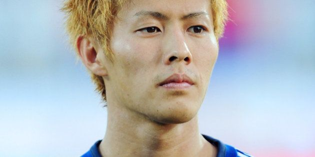 Japan's midfielder Yoichiro Kakitani is pictured ahead of a friendly football match between Serbia and...