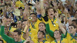 コンフェデ杯決勝戦:ブラジル優勝、スペインを3−0で下す。
