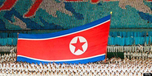 North Korea, Pyongyang, Performers at Arirang Mass