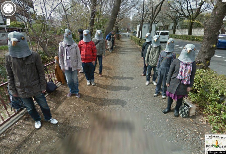 ハト人間:日本のストリートビューに登場した謎の人間たち