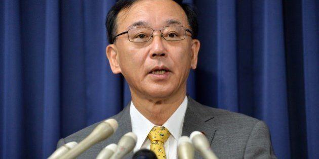 Japanese Justice Minister Sadakazu Tanigaki announces the execution of Tokuhisa Kumagai, who was convicted...