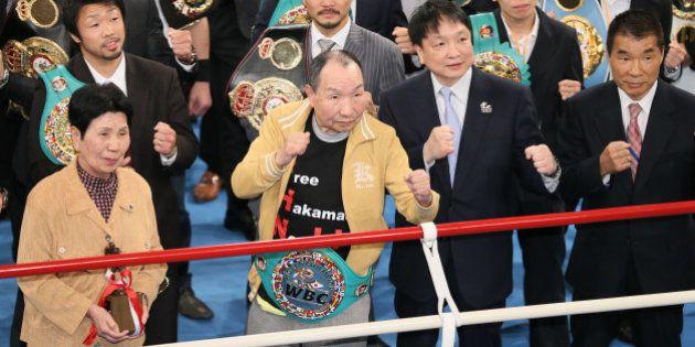 袴田巌さん、53年ぶりリングに復帰 「権力に勝った」