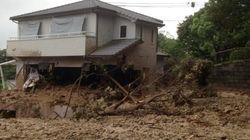 広島の土砂崩れ 現場付近で投稿された写真