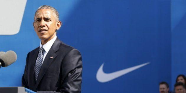 オバマ大統領、TPP推進派のナイキ本社で演説