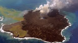西之島、斜面崩落の恐れ 父島に1メートル超の津波も