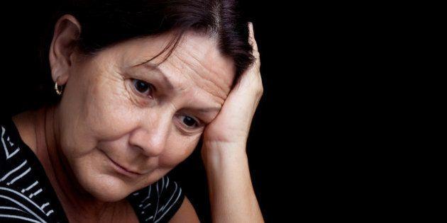 portrait of a very sad