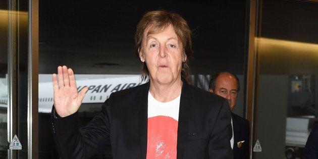 TOKYO, JAPAN - MAY 15: Paul McCartney is seen upon arrival at Haneda Airport on May 15, 2014 in Tokyo,...