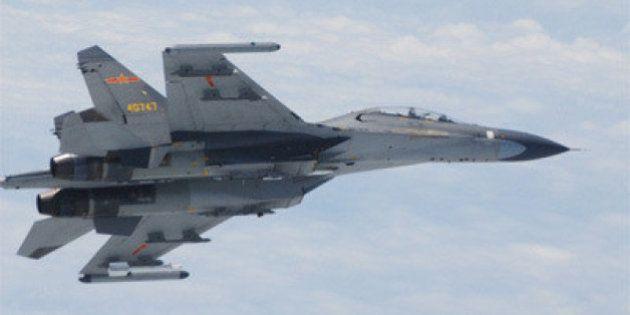 中国軍機が自衛隊機に異常接近 5月以来2度目
