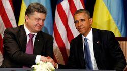オバマ大統領、次期ウクライナ大統領と会談