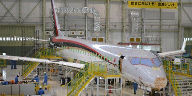 MRJ初号機、完成近づく 国産初のジェット旅客機