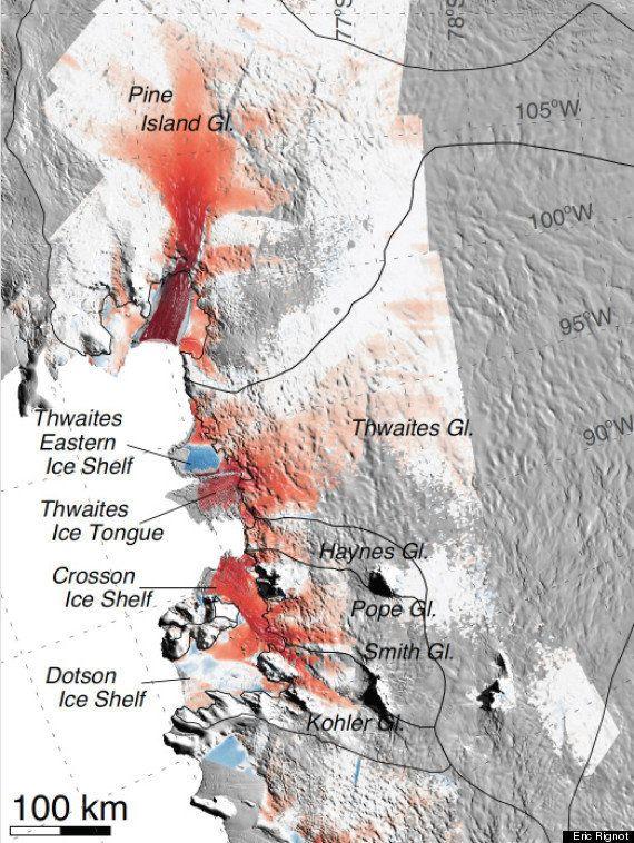 南極西部の氷床、数百年で消失か NASA「後退は制止できない」