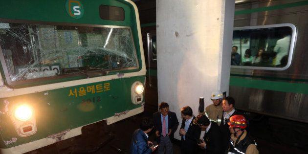 ソウルの地下鉄で追突事故、乗客ら170人以上がケガ