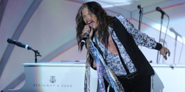 CENTURY CITY, CA - MAY 02: Singer/songwriter Steven Tyler performs onstage during the 21st annual Race...