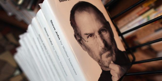CORAL GABLES, FL - OCTOBER 24: A stack of the newly released biography of Apple co-founder and former...