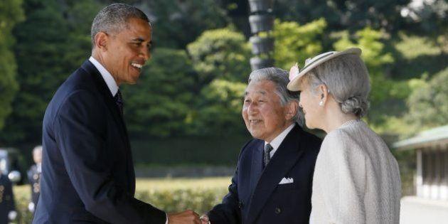 天皇皇后両陛下、オバマ大統領と会見 震災時の「トモダチ作戦」に謝意【画像】