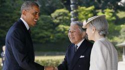 天皇皇后両陛下、オバマ大統領と会見