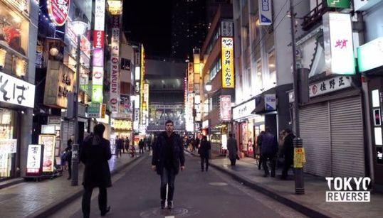 東京の街を後ろ向きに歩いて逆再生しただけなのになぜか幻想的【動画】