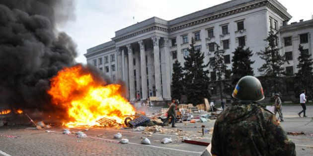 ODESSA, UKRAINE - MAY 2: According to official information, 38 people died in a fire and 30 others were...