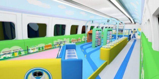 「プラレール」のジオラマ、新幹線「こだま」内に JR西日本、7月から