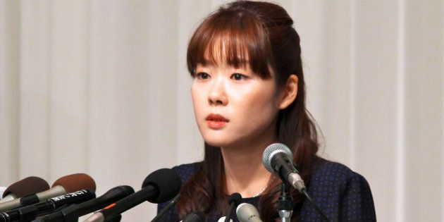Haruko Obokata, a researcher at Riken research institution, attends a news conference in Osaka, Japan,...