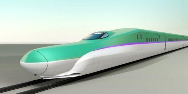 北海道新幹線、JR東のE5ベースに紫のライン JR北海道が車両デザイン発表
