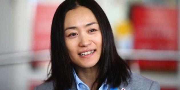 SOCHI, RUSSIA - FEBRUARY 01: Aiko Uemura of Japan is seen upon arrival at Sochi International Airport...