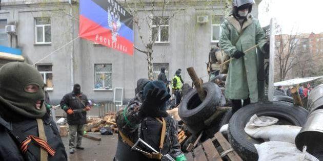 ウクライナで銃撃戦、流血の事態に
