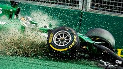 小林可夢偉がスタート直後にクラッシュ F1オーストラリアGP