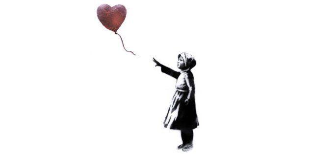 シリア内戦開始から3年、バンクシーの「赤い風船」で反戦キャンペーン拡散