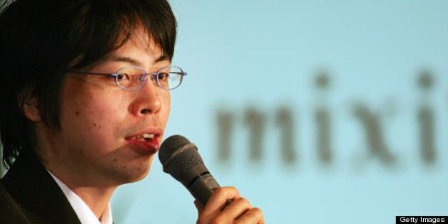 Tokyo, JAPAN: Kenji Kasahara, founder and president of Japan's most popular Internet networking site,...