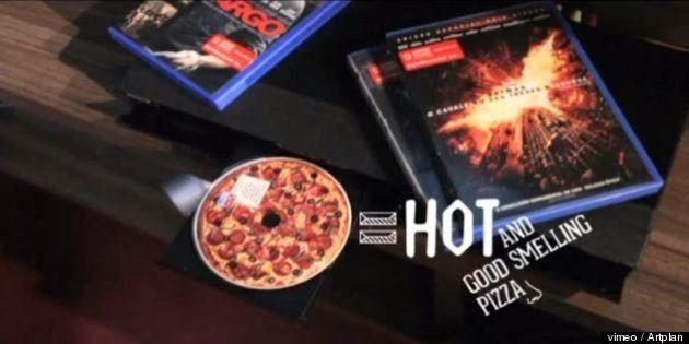 レンタルDVDを見たら、ピザになっていた?という動画が人気。ドミノ・ピザのマーケティングが凄い[動画]