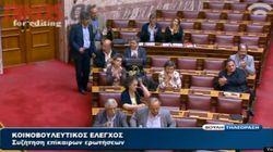 18議席を獲得したギリシャ極右政党、国会でも「大暴れ」